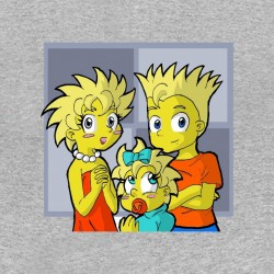 t-shirt simpson version manga gray sublimation