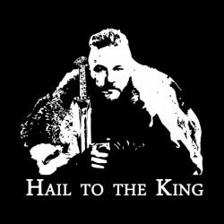 vikings t-shirt hail to the king black sublimation