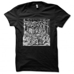 Flayed t-shirt cover art black sublimation