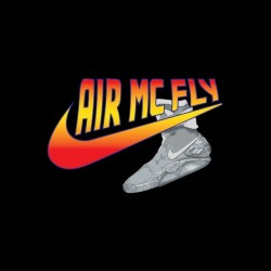 T-shirt Back to the Future parody Nike Air Mc Fly black sublimation