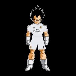 tee shirt Vegeta real madrid black sublimation