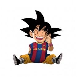 tee shirt goku  barcelona...