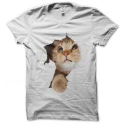 cat shirt white sublimation