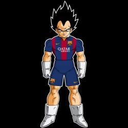tee shirt Vegeta FC Barcelone sublimation