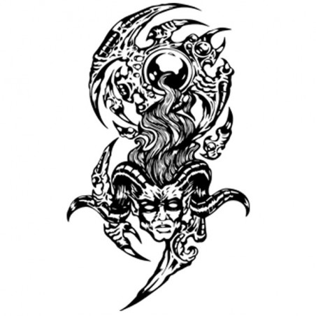 T-shirt Demon tattoo in white sublimation