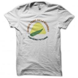 T-shirt humor Confrérie Paysanne Farmers who stuff it white sublimation