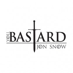 t-shirt jon snow bastard...