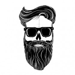 hipster t-shirt skeleton white sublimation