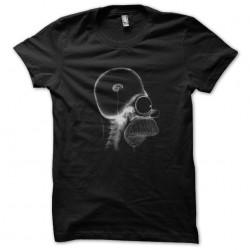 t-shirt homer brain black...