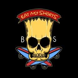t-shirt bart simpson black skeleton sublimation
