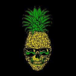 t-shirt pineapple of death black sublimation