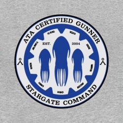 tee shirt stargate command gray sublimation