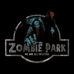 tee shirt zombies park black sublimation