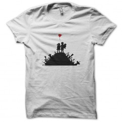 Banksy kid t-shirt artist t-shirt street art White sublimation