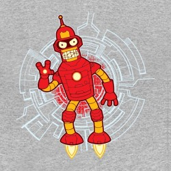 iron man bender t-shirt gray sublimation