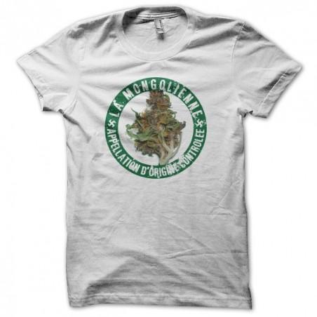 T-shirt La Beuze The Mongolian cannabis AOC white sublimation