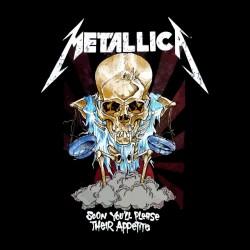 tee shirt metallica skulls black sublimation