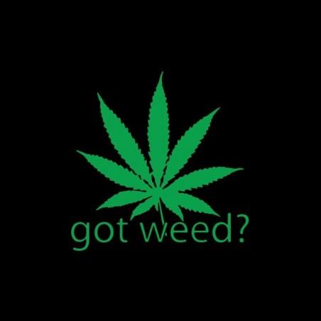 Got Weed marijuana t-shirt? black sublimation