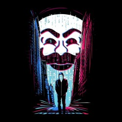 anonymous mr black sublimation robot t-shirt