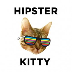 hipster t-shirt white kitty...
