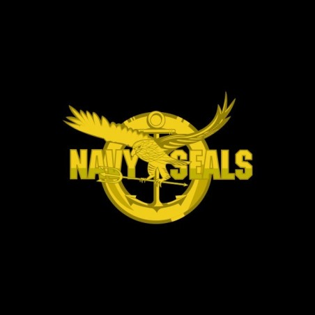 Navy Seals t-shirt golden eagle black sublimation
