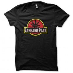 cannabis park t-shirt black sublimation