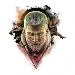 tee shirt witcher portrait...