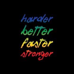 Daft Punk Harder t-shirt Better Faster Stronger famous black dye sublimation