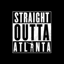 The walking dead t-shirt Atlanta black sublimation