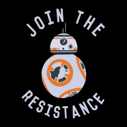 tee shirt join the resistance black sublimation