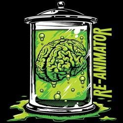 t-shirt reanimator brain black sublimation