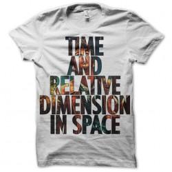 doctor T-Shirt who Tardis white sublimation