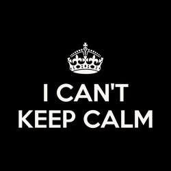 t-shirt i can not keep calm black sublimation