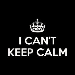 tee shirt i can't keep calm sublimation