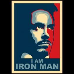Tee shirt I AM IRONMAN obama style  sublimation