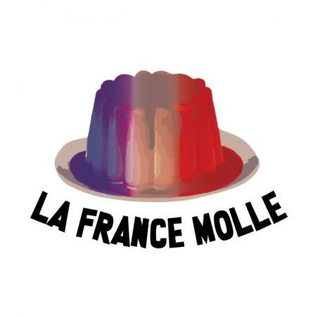 Tee shirt humour Flamby La France Molle  sublimation