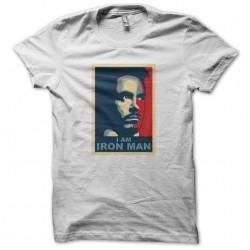 I AM IRONMAN white sublimation t-shirt