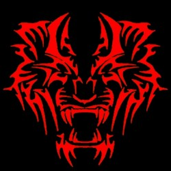 Tiger red tattoo t-shirt in...