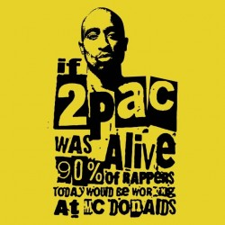 tee shirt 2pac alive  sublimation