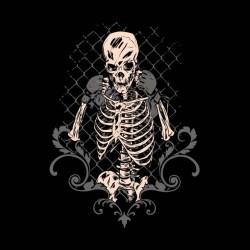 t-shirt skeletons swag black sublimation