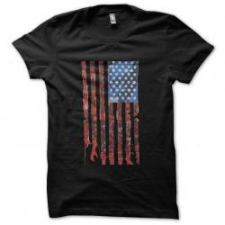 t-shirt walking dead flag...