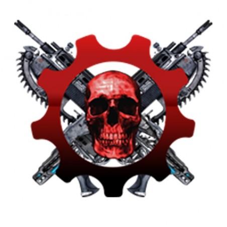 Gears of war fan art logo white sublimation t-shirt