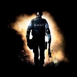 t-shirt swat team police black sublimation