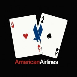 Tee shirt Poker Aces pair American Airlines  sublimation