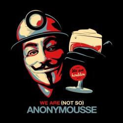 tee shirt anonymousse biere noir sublimation