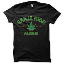 t-shirt ganja high black...