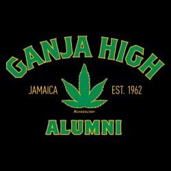t-shirt ganja high black sublimation