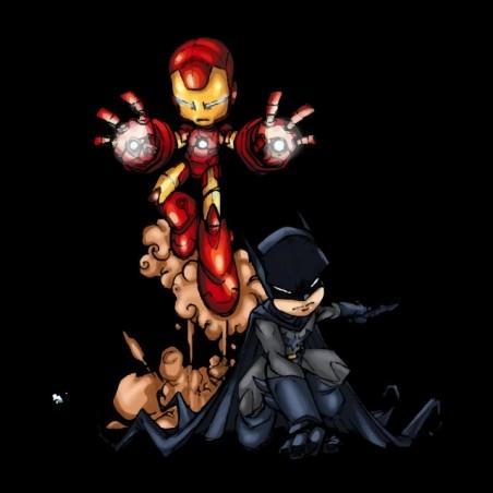 iron bat man t-shirt black sublimation