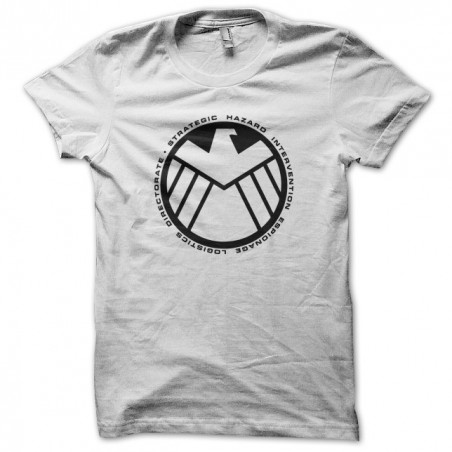 The avengers shield logo white artwork sublimation t-shirt