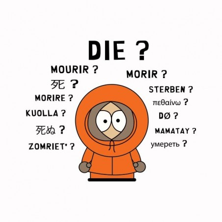 Tee shirt South Park parodie Kenny international  sublimation